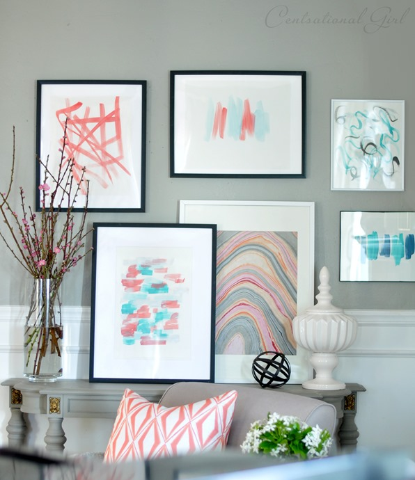 diy abstract art gallery cg