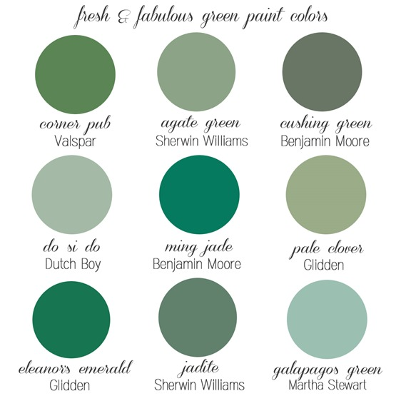 fresh green paint colors