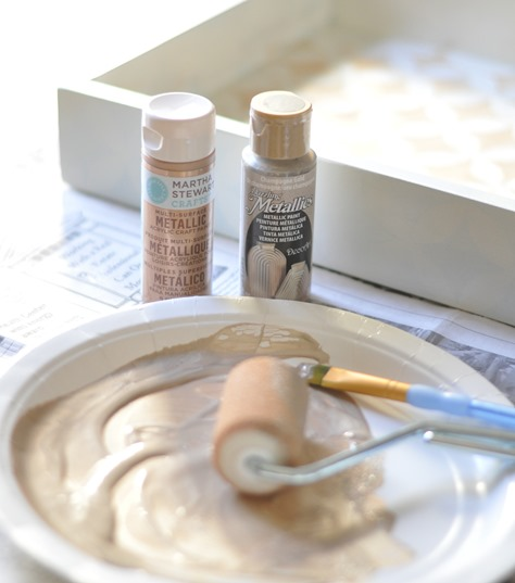 gold and champagne craft paints