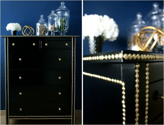 hemnes dresser with nailhead trim
