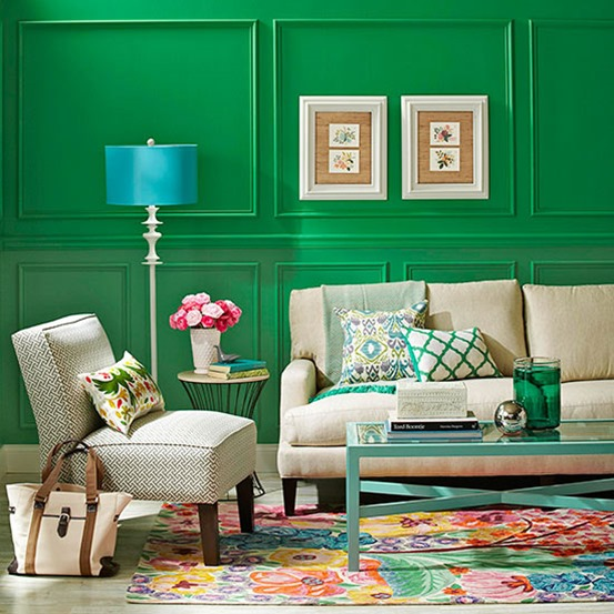 kelly green walls bhg
