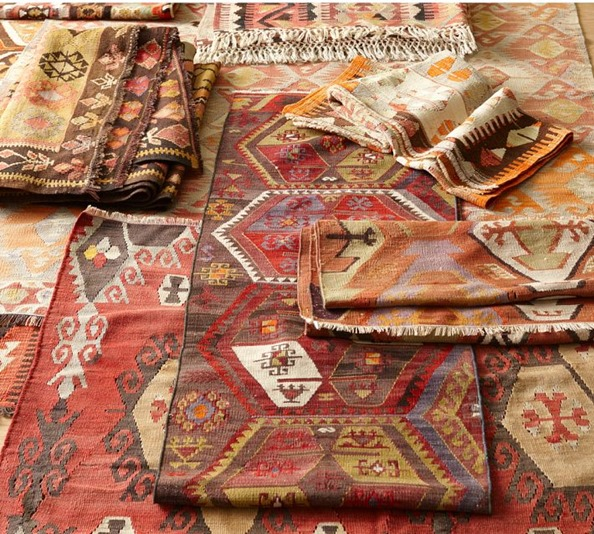 vintage kilim rugs at pottery barn