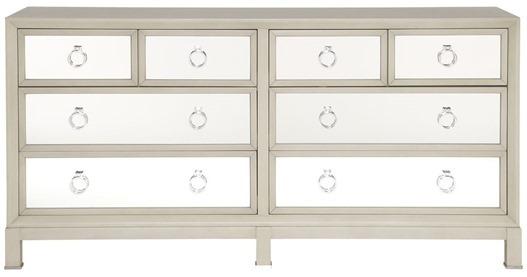 mirrored front dresser