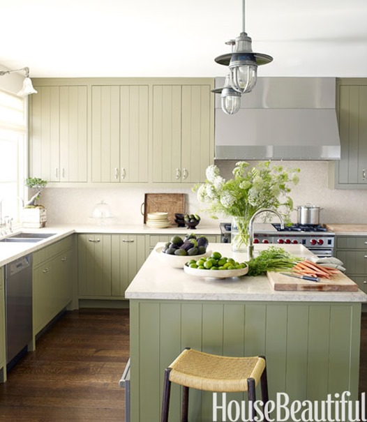Green Painted Kitchen Cabinets: Centsational Girl