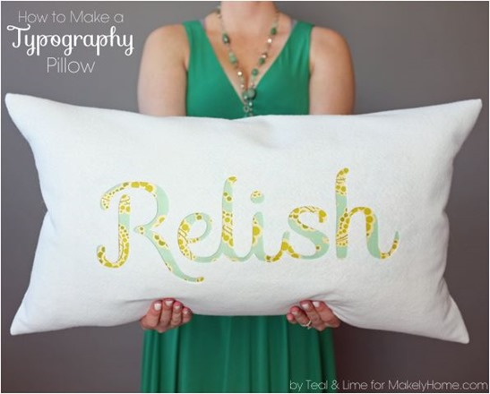 typography pillow diy