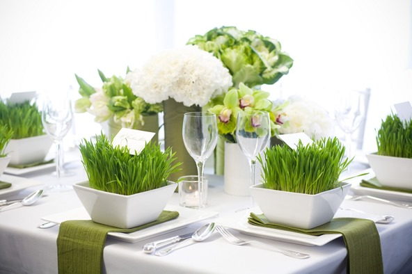 wheat grass tablescape