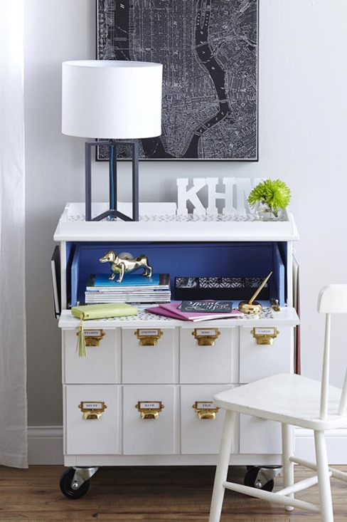 bhg makeover ikea dresser to desk inmyownstyle