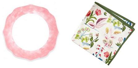 blush plate floral napkin