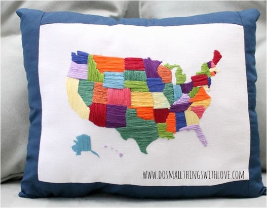 embroidered usa dosmallthingswithlove