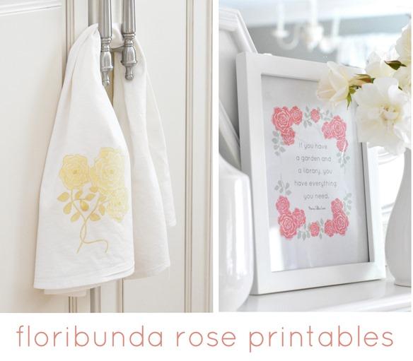 floribunda rose printables