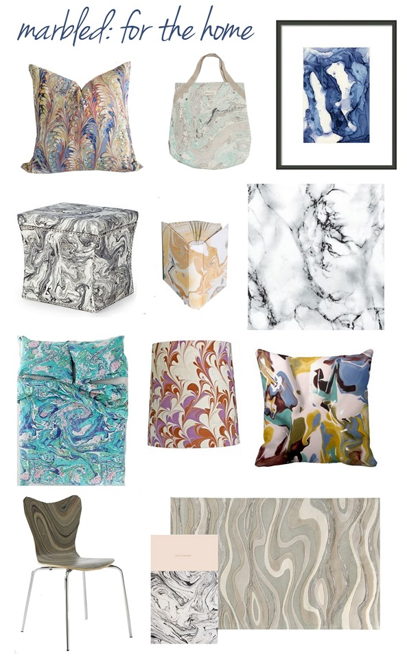 marbled home accents