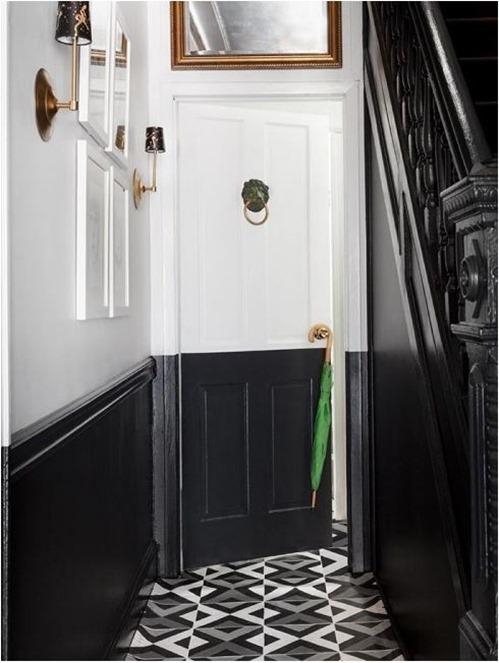 painted floorcloth designsponge