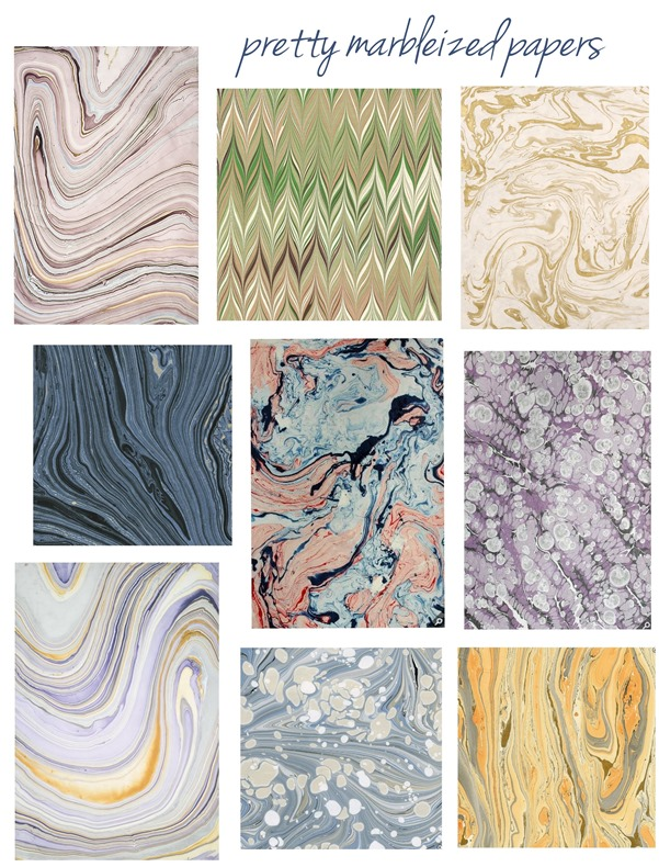 pretty marbleized papers