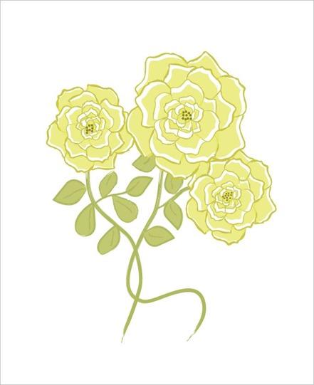 yellow floribunda rose cluster