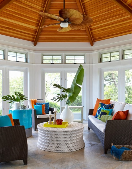 tropical touches sunroom