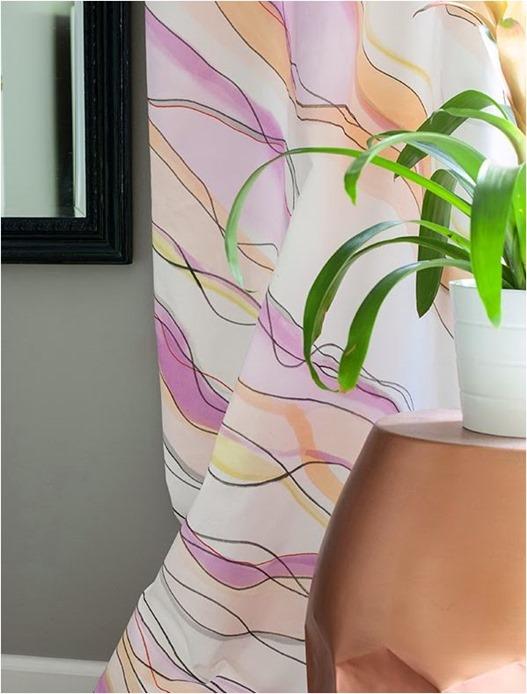 diy watercolor curtains