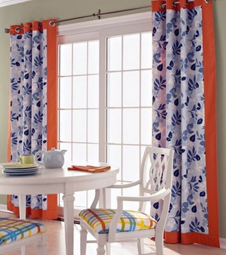 fabric panels sliding door window treatment