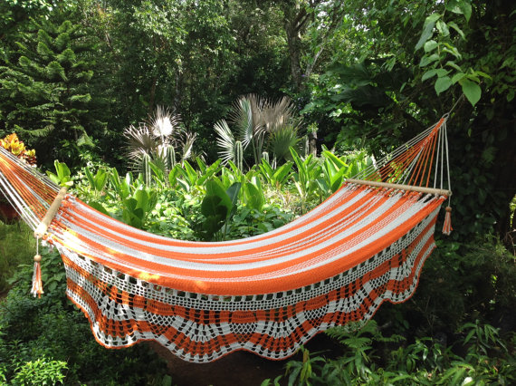 orange striped hammock