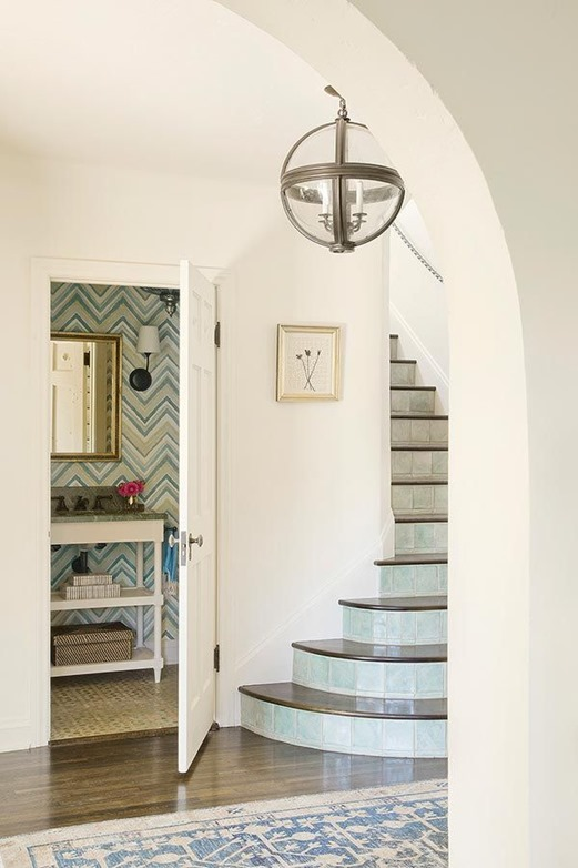 tiled staircase christine markatos