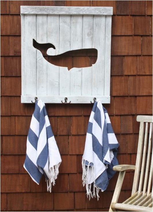 whale towel rack