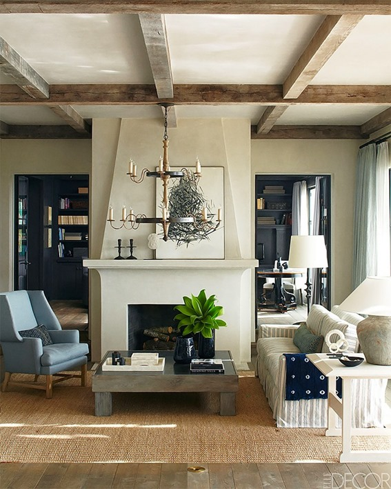 contemporary fireplace elledecor