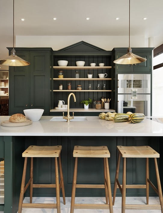 counter height island with stools