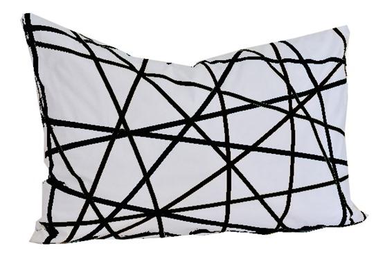 diy ribbon criss cross pillow