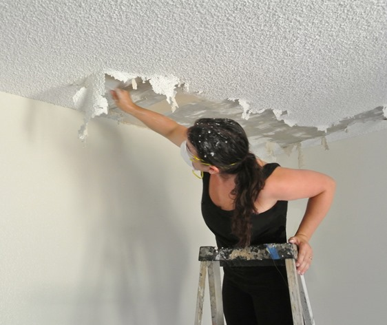The Joy of Popcorn Ceiling Removal : Centsational Girl