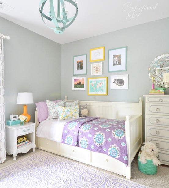 Girl s room changes centsational style - Paint colors for girl rooms ...