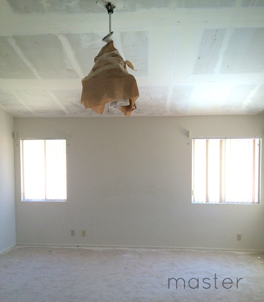 master bedroom popcorn removed