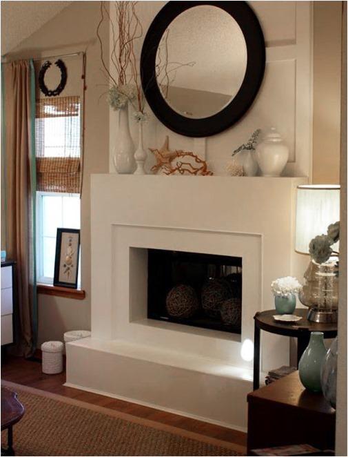 modern fireplace facade