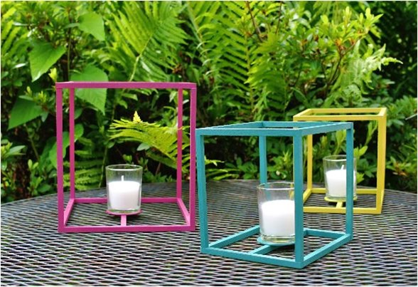 outdoor cube lantern diy
