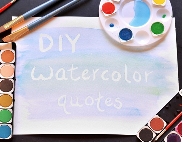 watercolor diy