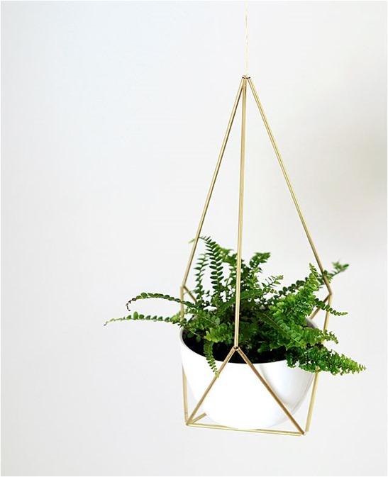 brass himmeli planter