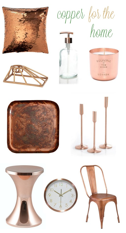 copper home decor