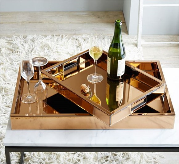 copper tray west elm