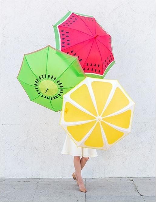 fruit slice umbrellas