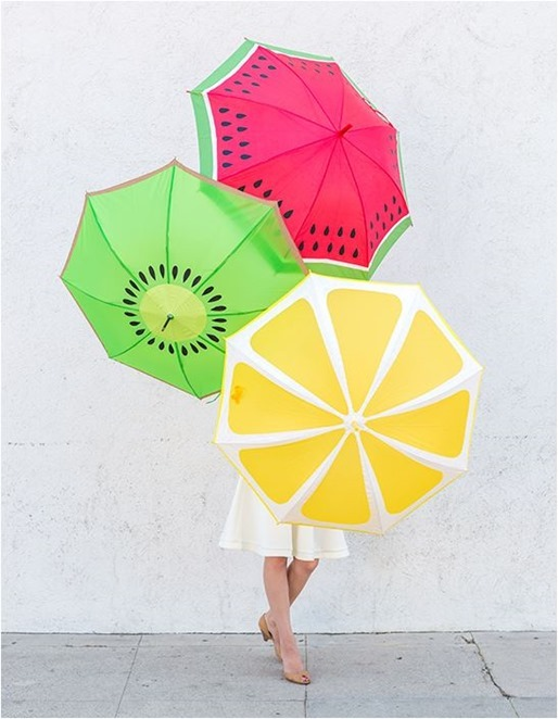 fruit slice umbrellas