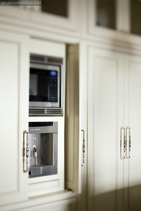 hidden microwave in kitchen