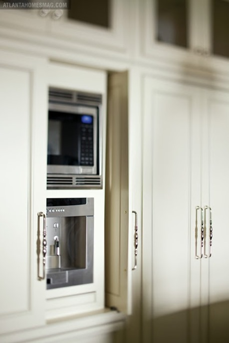 hidden microwave in kitchen