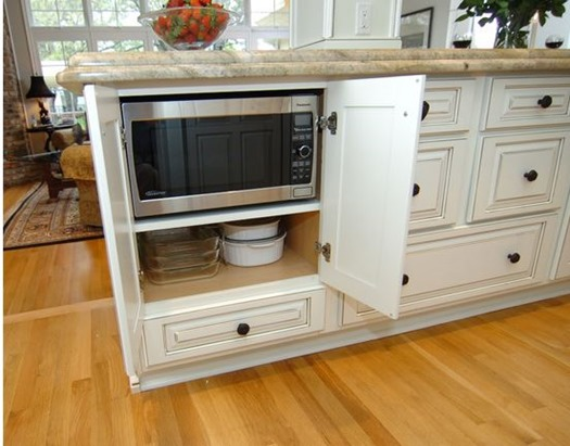 microwave in island