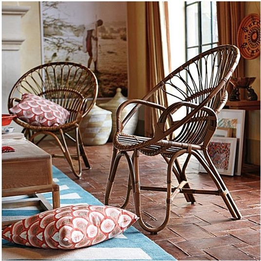 Decorative rattan roundup centsational girl for Sillones de rattan