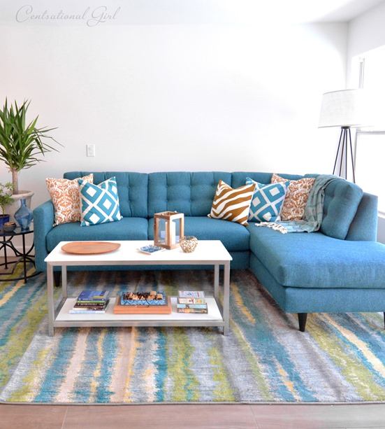 teal logan sofa from apt2b