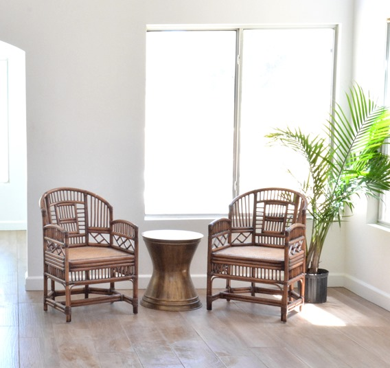 vintage rattan chairs