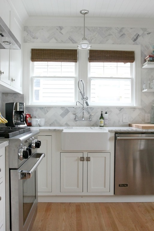 white kitchen makeover gritandpolish