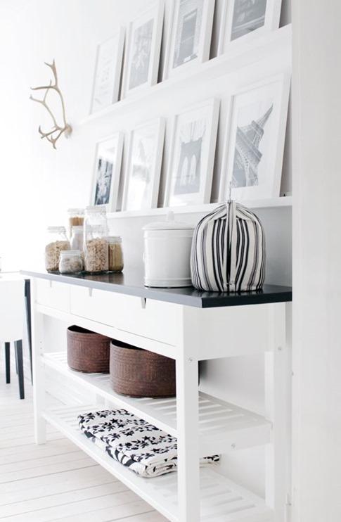 black and white console