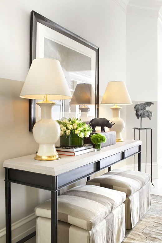 No Fail Objects For Styling A Console Table Centsational Style - Sofa Table With Stools Underneath