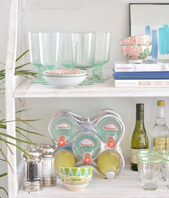 dishes on shelf