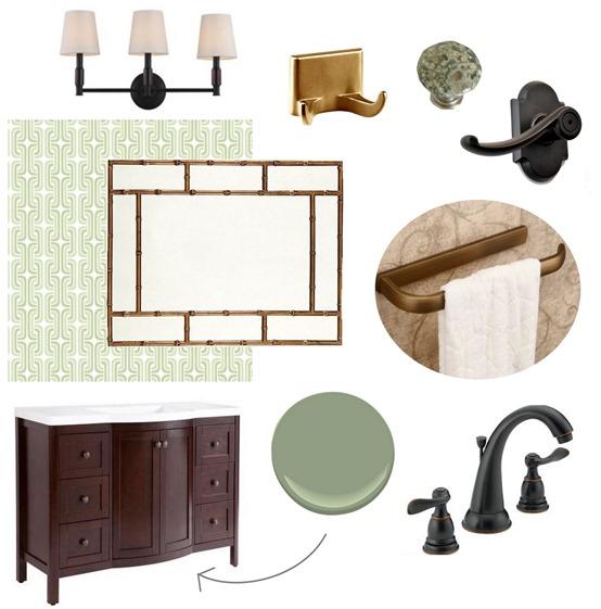 downstairs bathroom plan