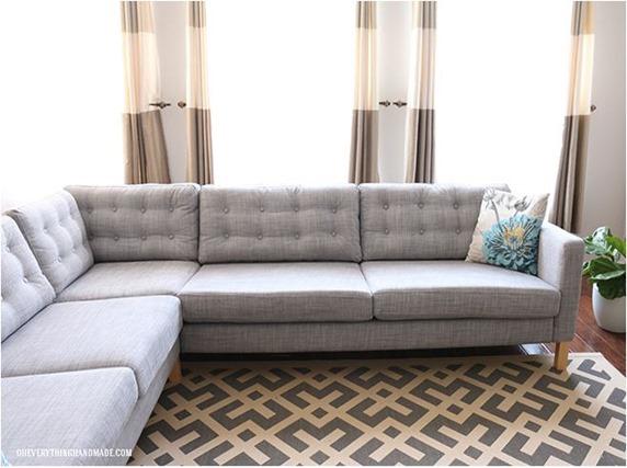 ikea tufted sofa